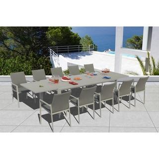 Ritz 11 Pc Dining Set - Fabric color_Ash Grey