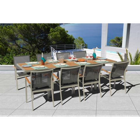 Essence 9 Pc Dining Set - Fabric color_Pewter