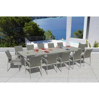 Havenside Home Grand Bank Ash Grey 13-piece Dining Set