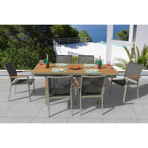 Essence 7 Pc Dining Set - Fabric color_Pewter