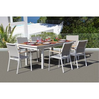 Essence 7 Pc Dining Set - Fabric color_Mouse Grey