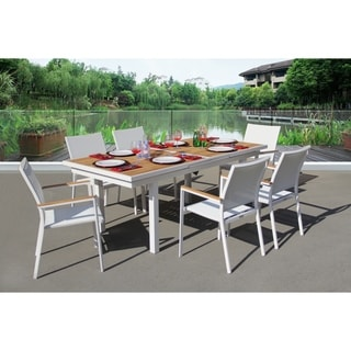 Essence 7 Pc Dining Set - Fabric color_White