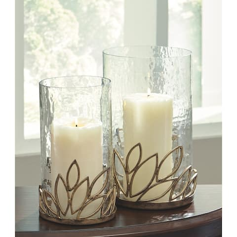 """Pascal Candle Holder - Set of 2 - Candle holder-small: 6"""" W x 6"""" D x 10"""" H"""