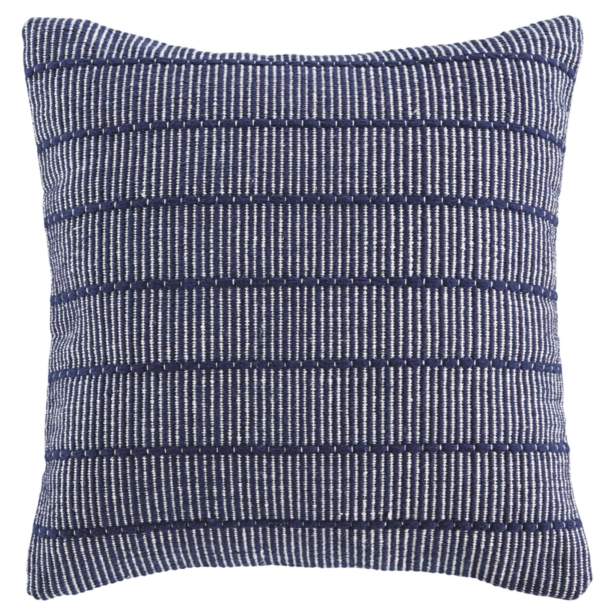 Shop Porch Den Rhodora Navy Blue Striped Throw Pillow On Sale Overstock 27871225