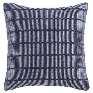 Porch & Den Rhodora Navy Blue Striped Throw Pillow