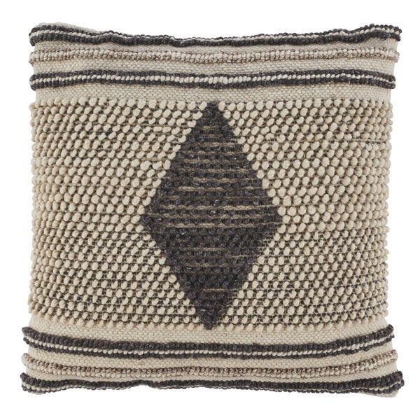 Ricker Woven Diamond Boho Throw Pillow