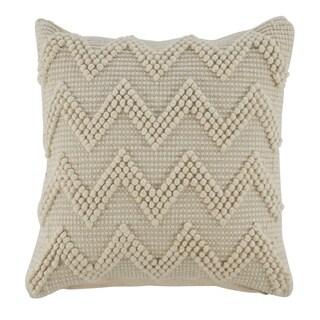Amie Cream Beaded Chevron Throw Pillow