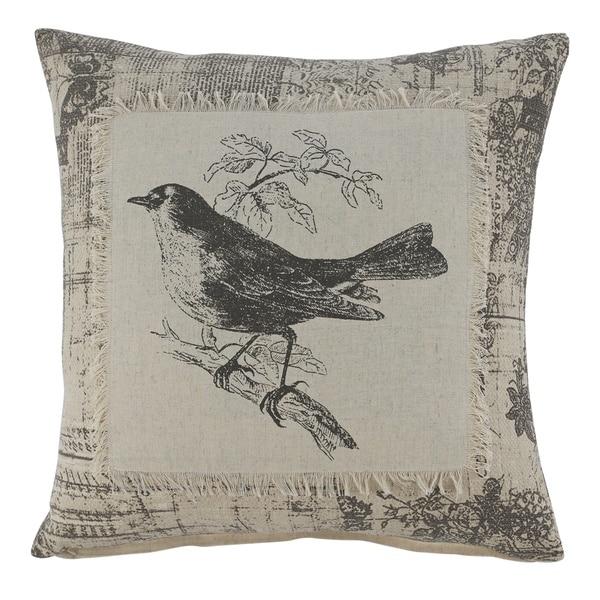 The Gray Barn County Clare Black Bird Print Throw Pillow