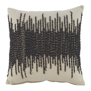 Warneka Grey Abrstact Emroidered Throw Pillow