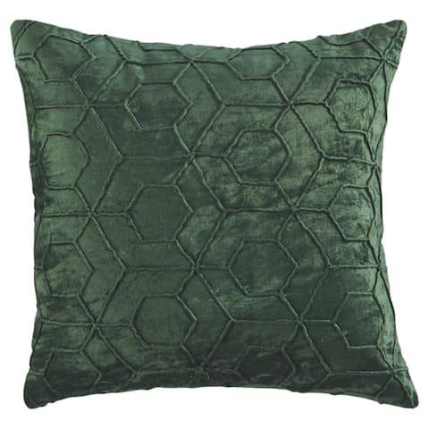 Ditman Emerald Hexagon Throw Pillow