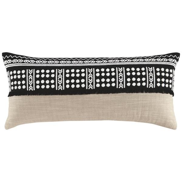 Mateja Black Geometric Print Pillow