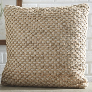 The Curated Nomad Beige Honeycomb Design Throw Pillow