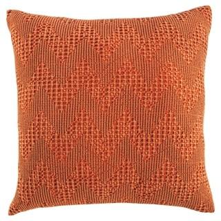 Dunford Orange Chevron Throw Pillow