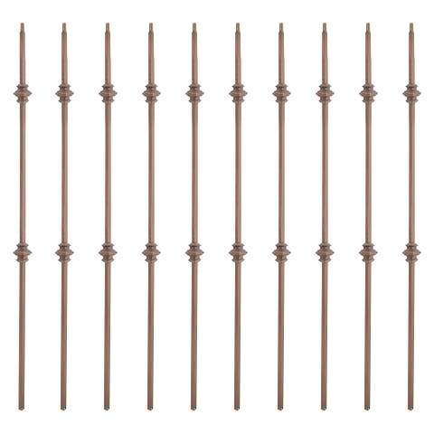 ALEKO Stair Bronze Baluster Double Knuckle Design 44 Inch Pack of 10