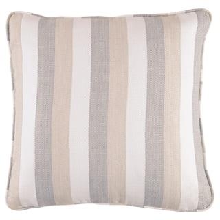 Mistelee Tan Striped Pillow