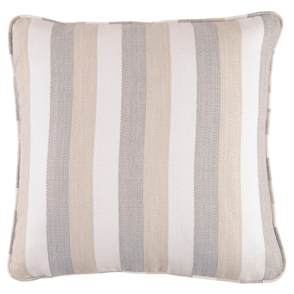 Mistelee Tan Striped Pillow