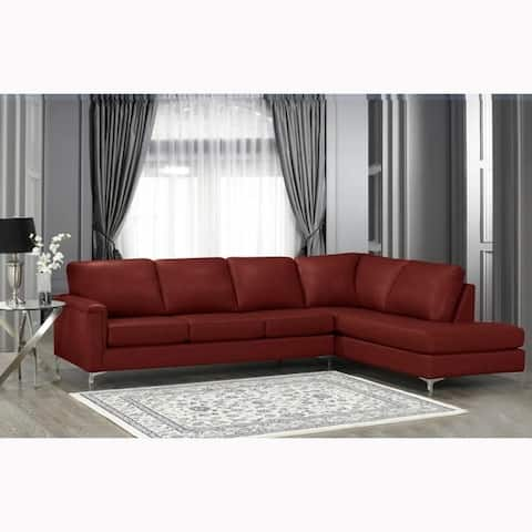 Buy Red, Leather Sectional Sofas Online at Overstock | Our ...