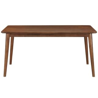 Draper Mid-century Modern Brown Wood Rectangular Dining Table