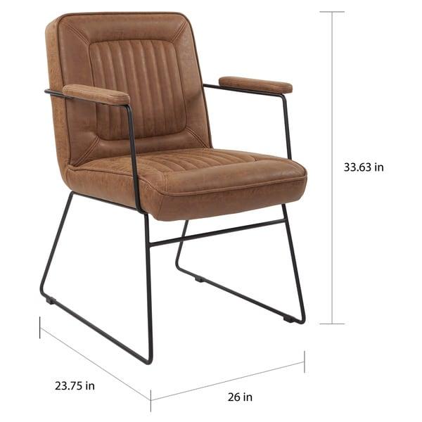 Carbon Loft Teigen Faux Leather Chair with Sled Base