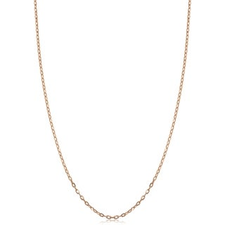 14k Rose Gold 1 Millimeter Cable Chain Necklace 14 16 18 Or 20 Inches