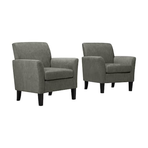 Handy Living Maritza Flared Arm Chairs (Set of 2)
