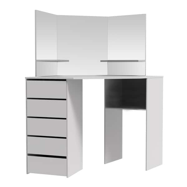 Corner Makeup Table With Mirror