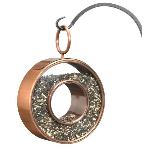 Circle Fly-Thru Bird Feeder - Copper Finish by Good Directions