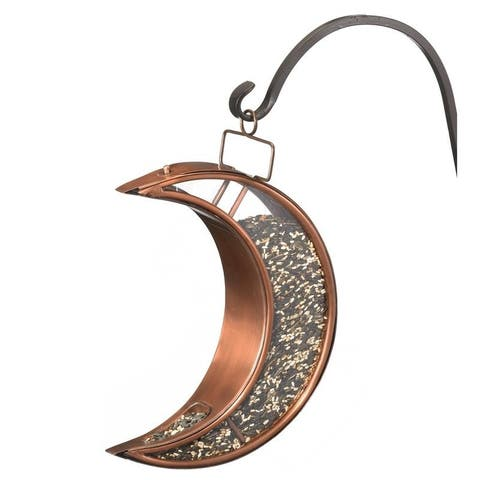 Crescent Moon Bird Feeder - Copper Finish by Good Directions