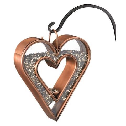 Heart Fly-Thru Bird Feeder - Copper Finish by Good Directions