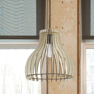 The Curated Nomad Novigrad Natural Wood Shade 1-light Pendant. Opens flyout.