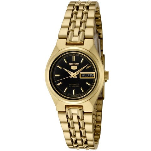 Seiko 5 Automatic Gold-Tone Ladies Watch SYMA06K1