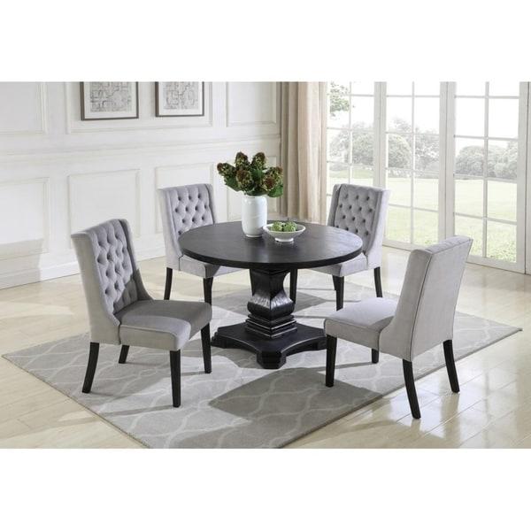 5 Piece Round Dinette Set: Shop Best Master Furniture 5-piece Round Grey Dining Set