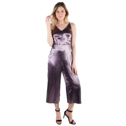 Women's Gunmetal Culottes Jumpsuit