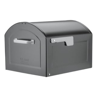 Link to Architectural Mailboxes  Centennial  Galvanized Steel  Post Mounted  Black (As Is Item) Similar Items in As Is