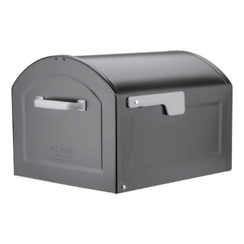 Architectural Mailboxes Centennial Galvanized Steel Post Mounted Black