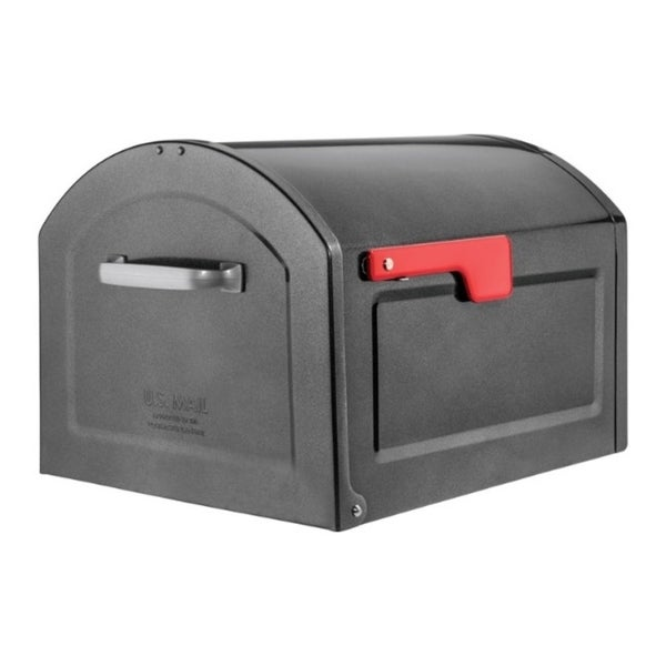 Architectural Mailboxes Centennial Galvanized Steel Post Mounted Pewter