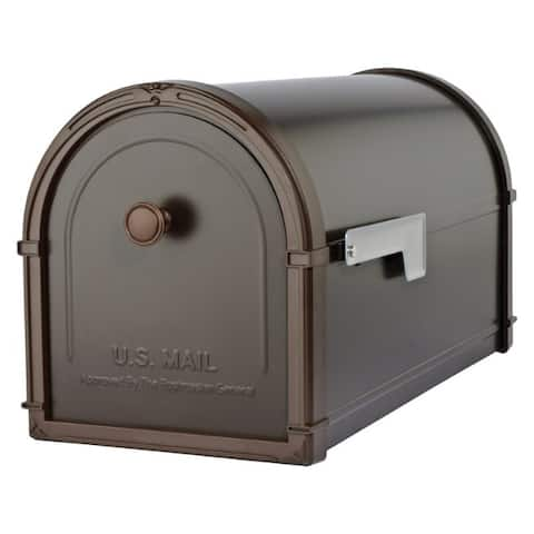 Architectural Mailboxes Bellevue Modern Galvanized Steel Post Mounted Rubbed Bronze