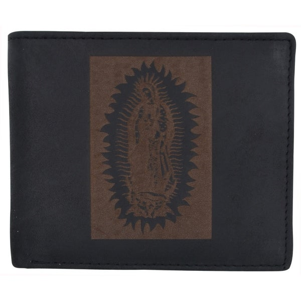 Guadalupe Virgin Mary Genuine Leather Cash Card ID Slots Men/'s Bifold Wallets