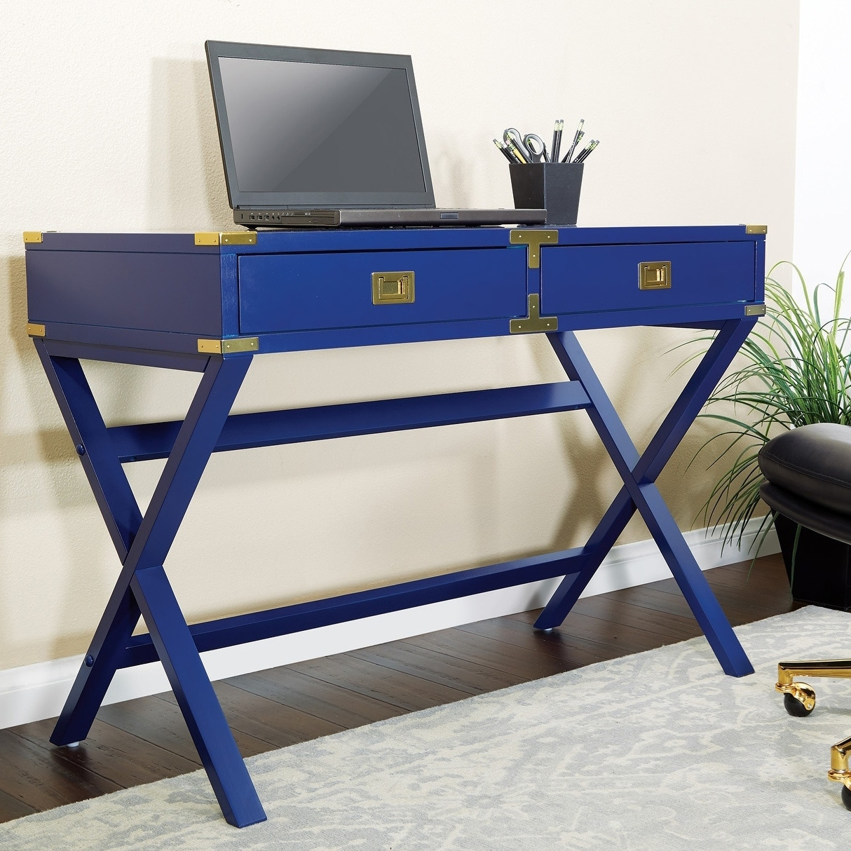 OSP Home Furnishings Wellington 42 Inch Desk With Power