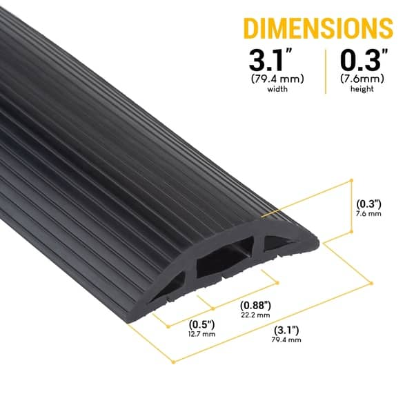Shop Floor Cable Cover 10 Ft Black Duct Cord Protector Covers