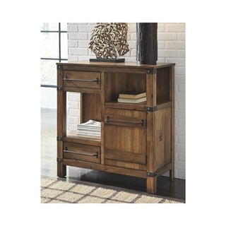 Roybeck Accent Cabinet - Casual - Bronze Hardware - Light Brown