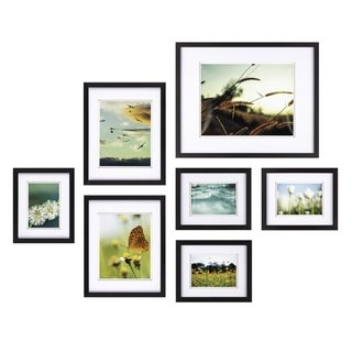 Link to 7pc Build A Gallery Wall Photo Frame Set with Decorative Art Prints Similar Items in Decorative Accessories