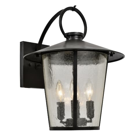 Andover 4-light Matte Black Outdoor Wall Lantern