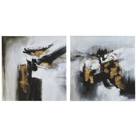 Jerrin Contemporary Abstract Wall Art - Set of 2