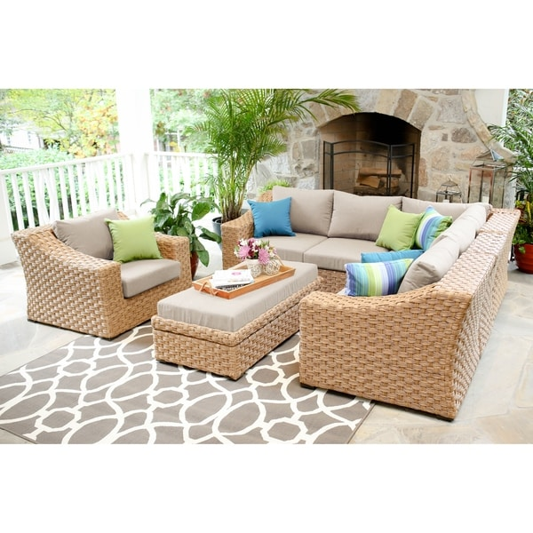 Amazing Light Brown Cushion Solaura Outdoor Sofa Furniture All Creativecarmelina Interior Chair Design Creativecarmelinacom
