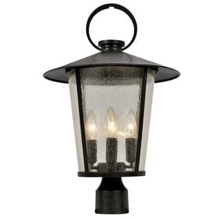 Andover 4-light Matte Black Outdoor Post Mount