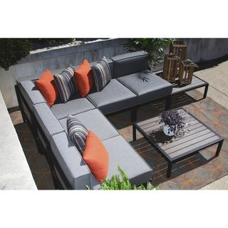Tribeca 7-Piece All Weather Sectional with Sunbrella fabric
