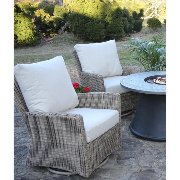 Shop Oakmont Swivel Chair 2 Pack All Weather Wicker Patio