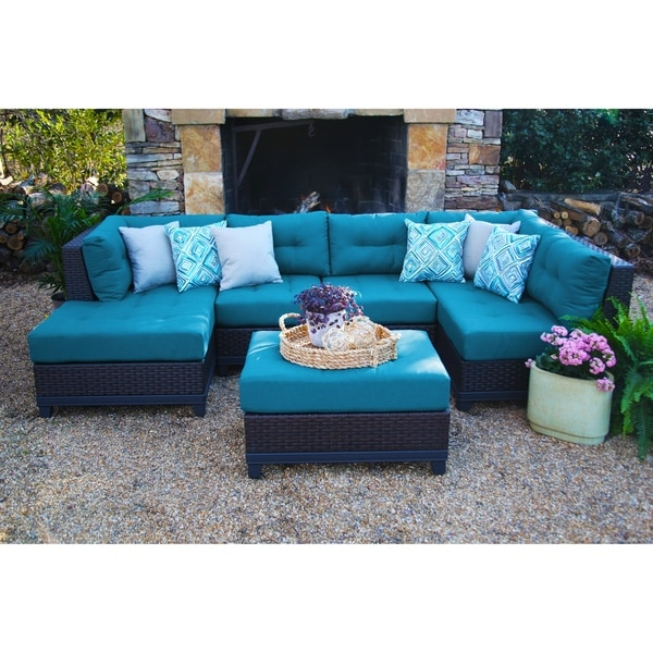 Shop Hillborough Blue 4 Piece All Weather Sectional With