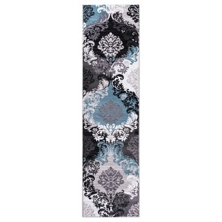 """GAD DAISY  Collection Ikat Beautiful Transional Multi Color Area Rug - 2'2"""" X 7'10"""""""